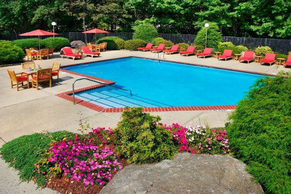 Spacious outdoor pool in a resort-like setting in the heart of Fairfield County, CT.