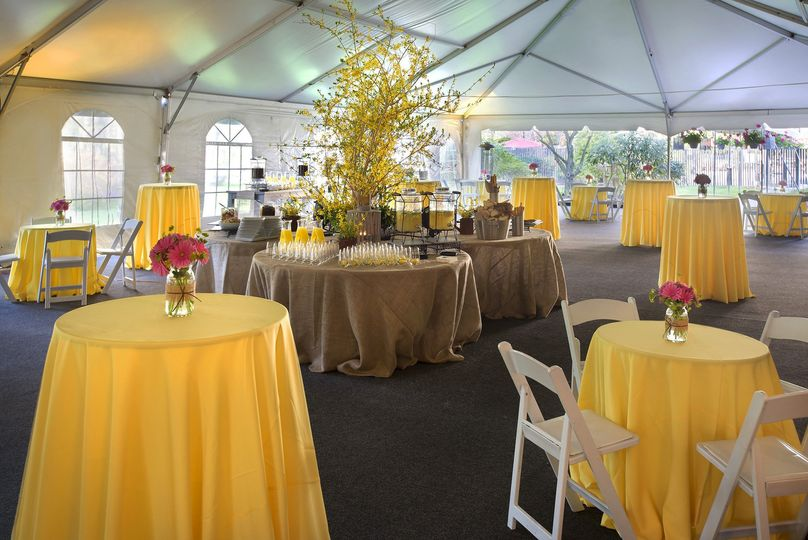 The tent at the Trumbull Marriott provides a lovely space for an outdoor event with picturesque...