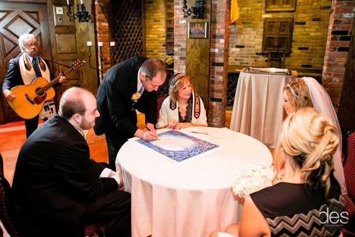 Marriage certificate signing
