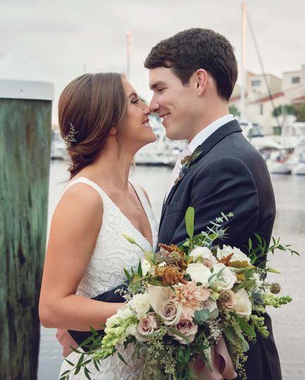 Couple Embrace Waterfront