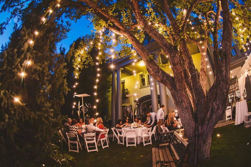 Outdoor backyard reception