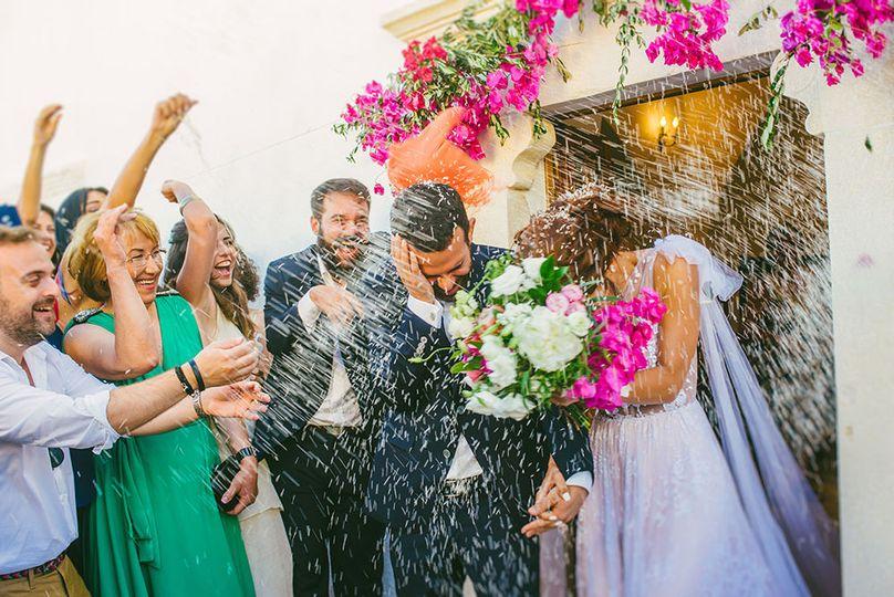 Wedding in Folegandros, Greece