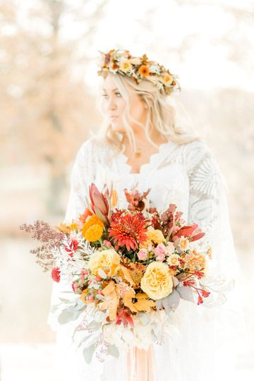 Fall boho bouquet