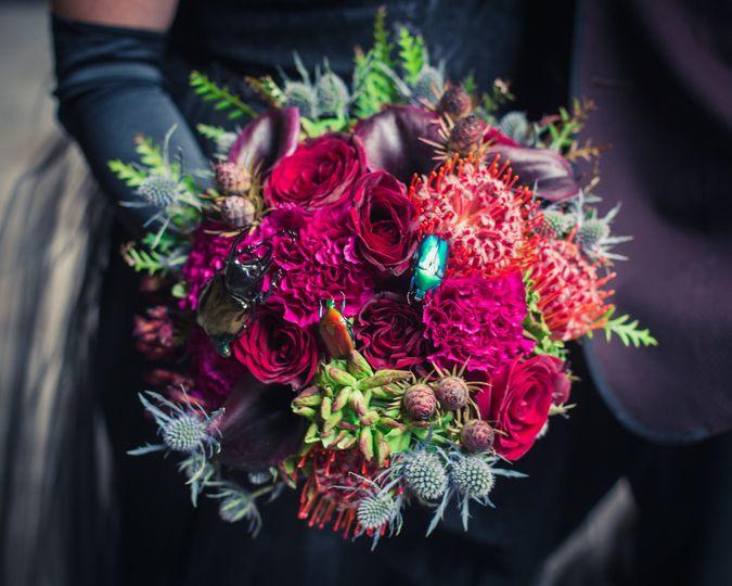 Deep jewel tone bouquet