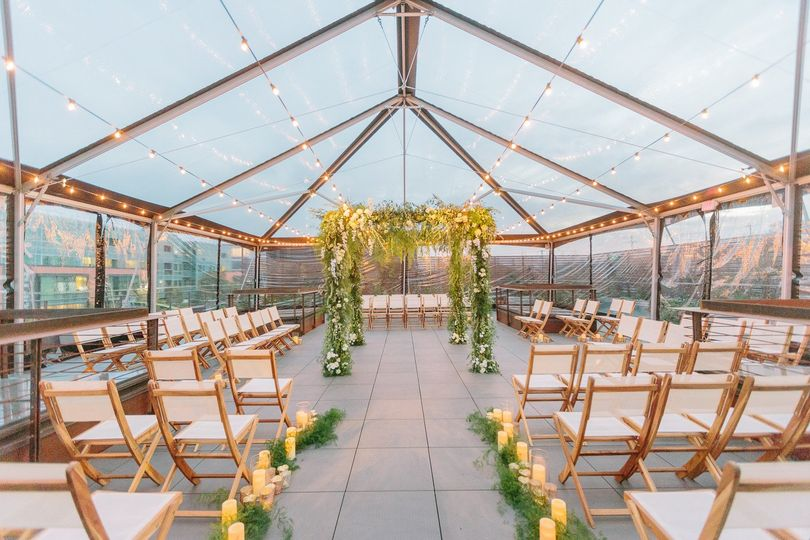rooftop tented ceremonye events comandy scott flor
