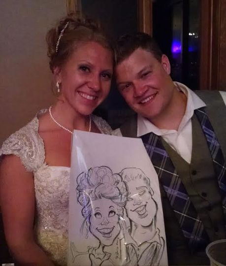 Couple with their drawing