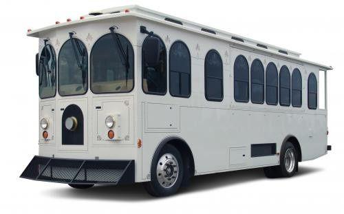 white wedding trolley