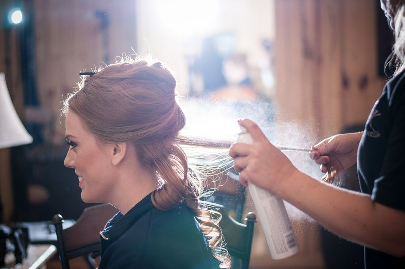 Getting hair styled - Walstonphoto