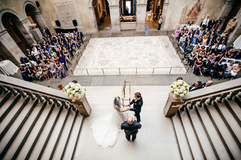 Wedding Ceremony on the Grand Staircase