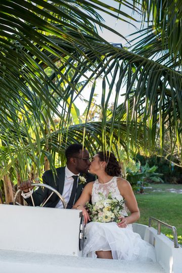 Palm trees Dede Brown Wedding Photography