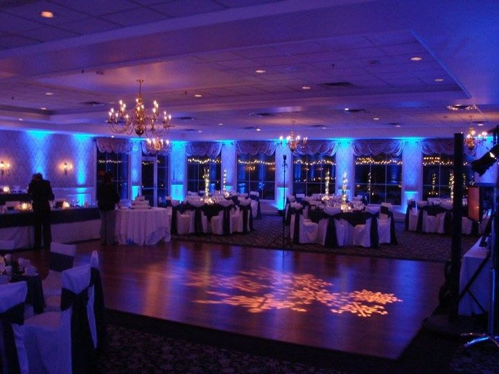 Monogram lighting on the dance floor
