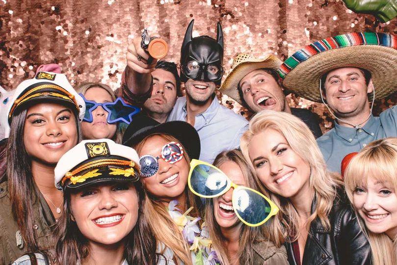 Wacky photo with friends