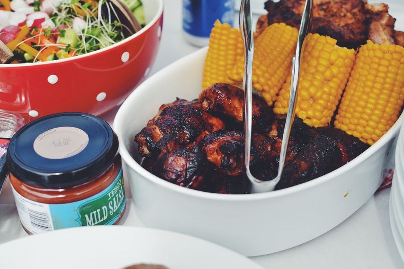 BBQ and corn
