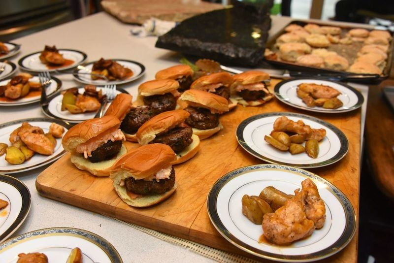 Burgers and wings