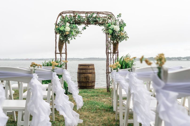 Bay side wedding