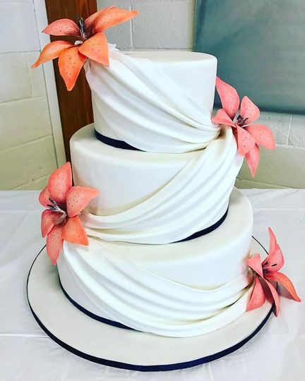 Beautiful draped cake