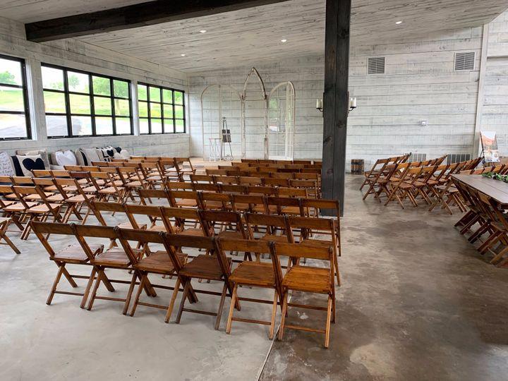 Set up for inside ceremony