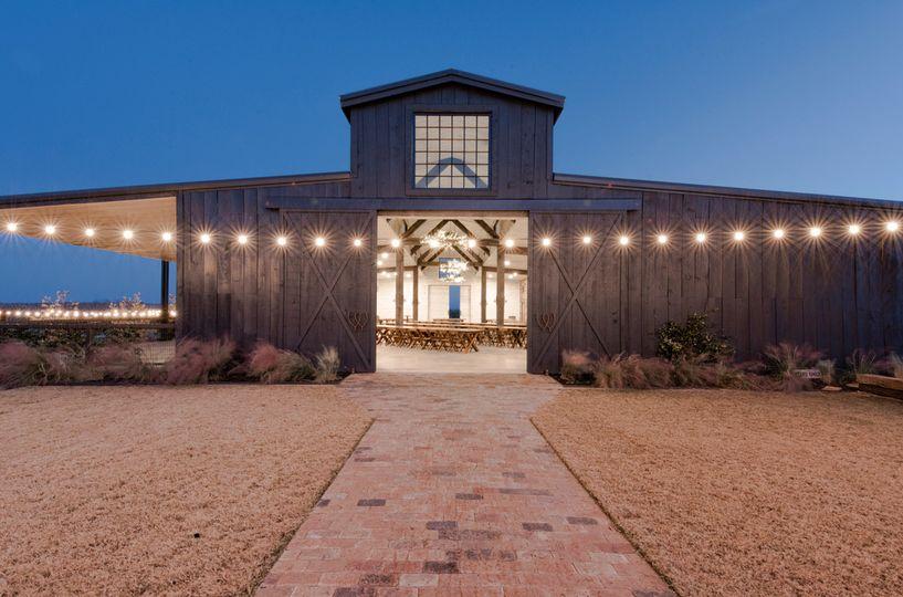 Main barn at night