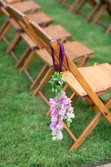 Floral on the wood chairs