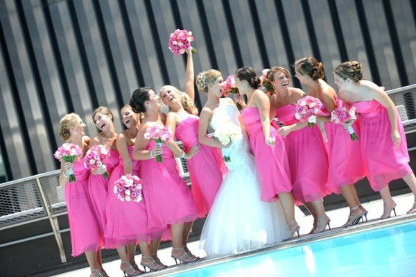 Our Rooftop Pool Terrace is a unique backdrop for you Wedding Party Pictures.