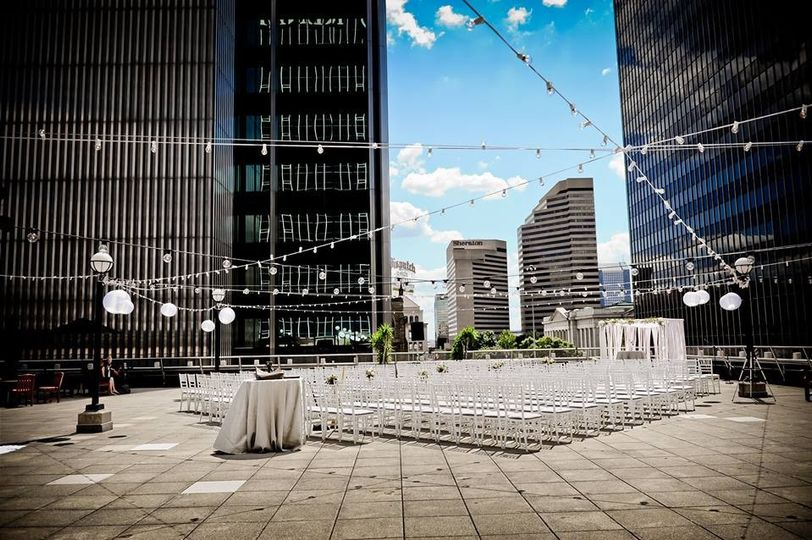 City view terrace setup