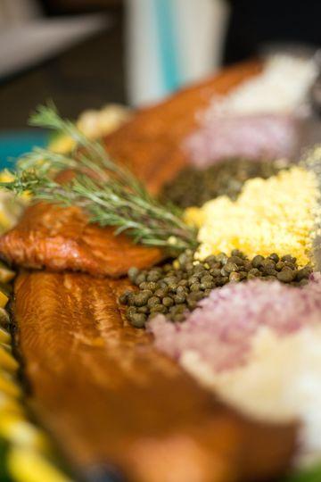 entree smoked salmon