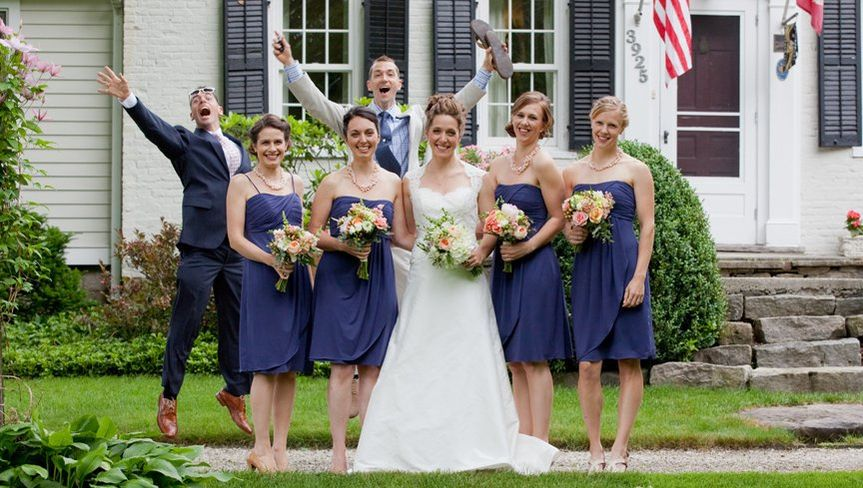Classic photo bomb by two of the most fun loving brothers ever. This bride had a fantastic day that...