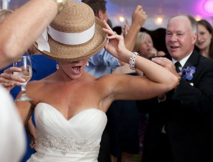 My favorite dance shot of the year. This hat made the rounds and when it got to the bride it was...