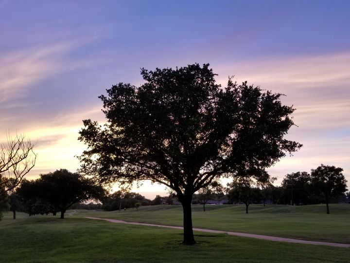 Sunset ceremony location, adjacent to the clubhouse,  away from the reception area.