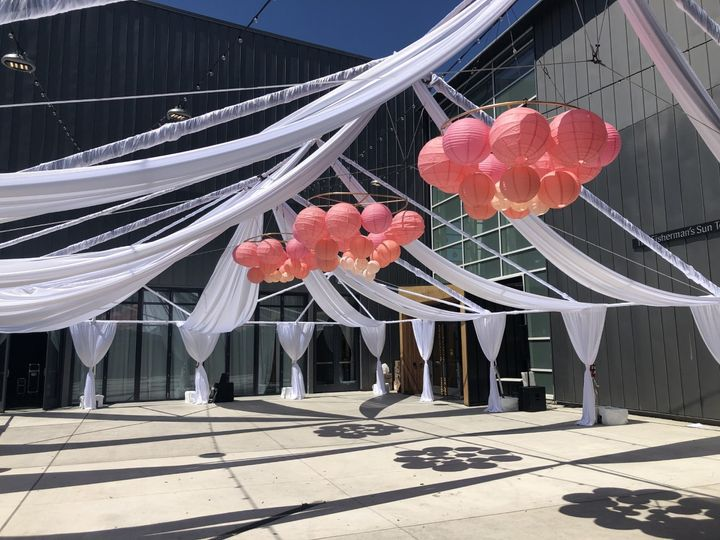 Draped Tent Structure in White