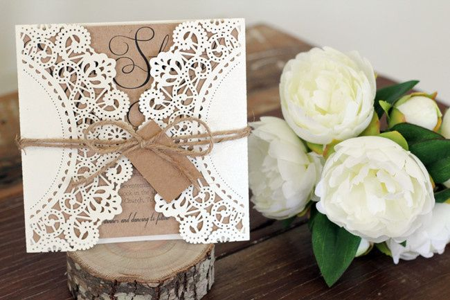 janice paper lace with kraft paper and tag