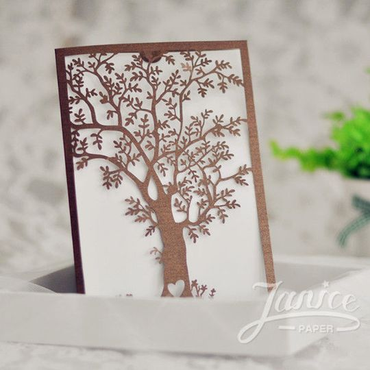 Laser cut folder available in many colors