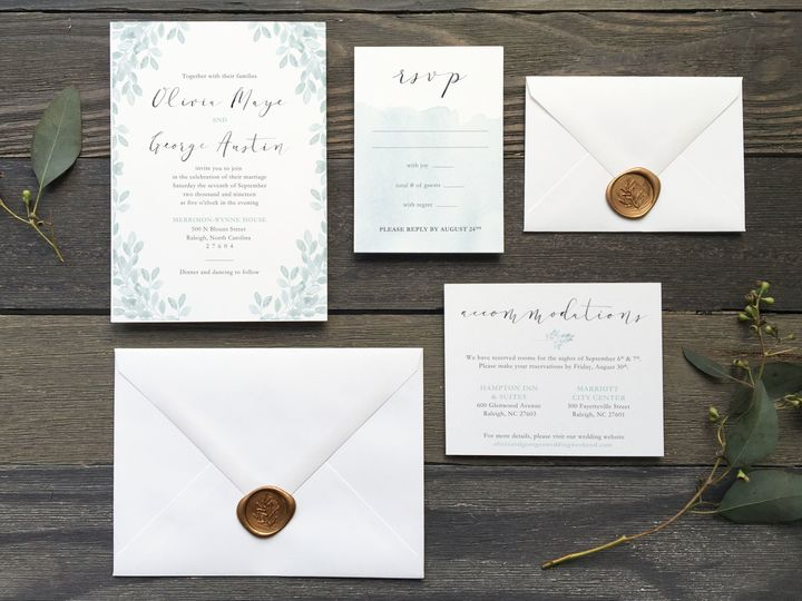 Tmx 1533412599 0456d1ce4934d256 1533412596 8c0d143a8a9dea23 1533412594455 1 The Olivia 1 Holly Springs wedding invitation