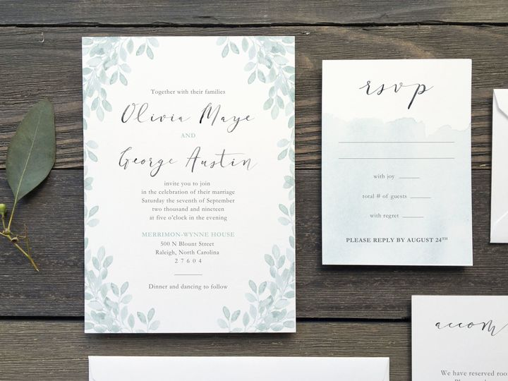 Tmx 1533412675 6a3f1a4e213c843b 1533412673 1af6aa83f7c64bef 1533412674661 5 The Olivia 2 Holly Springs wedding invitation