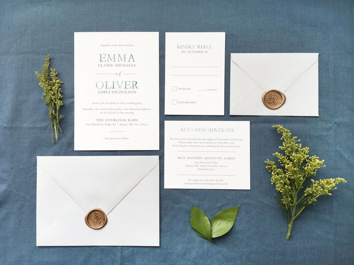 Tmx 1533412773 Fa404b57941ba2c3 1533412770 B1f33489e34ca333 1533412768097 9 The Emma 1 Holly Springs wedding invitation
