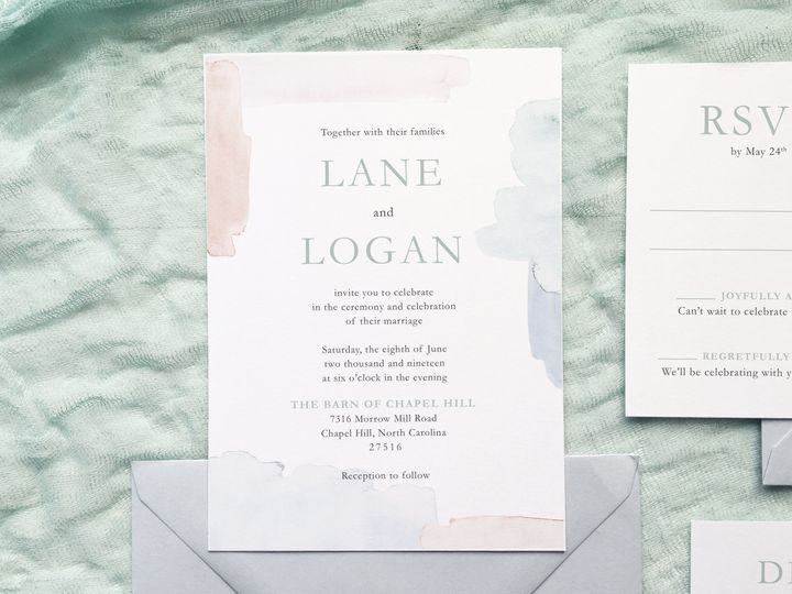 Tmx 1533412879 150cfd6959f00e96 1533412876 598a1c1ec1bc4e3a 1533412873206 16 The Lane 2 Holly Springs wedding invitation