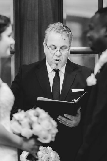 Officiant speaking