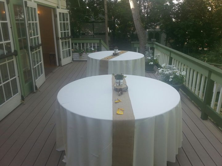 Outdoor dining setup