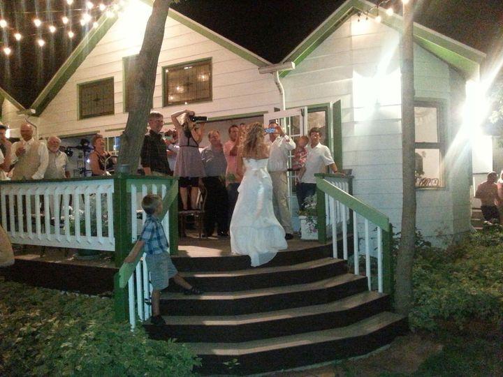 Wedding reception on the patio