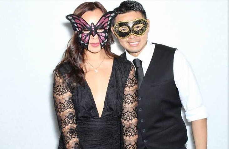 Couple in masks