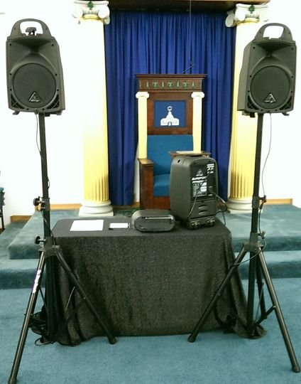 I do remote wedding ceremonies too. This smaller portable set-up is for when my services are...
