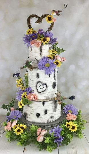 Burch bark or aspen cake all custom painted!