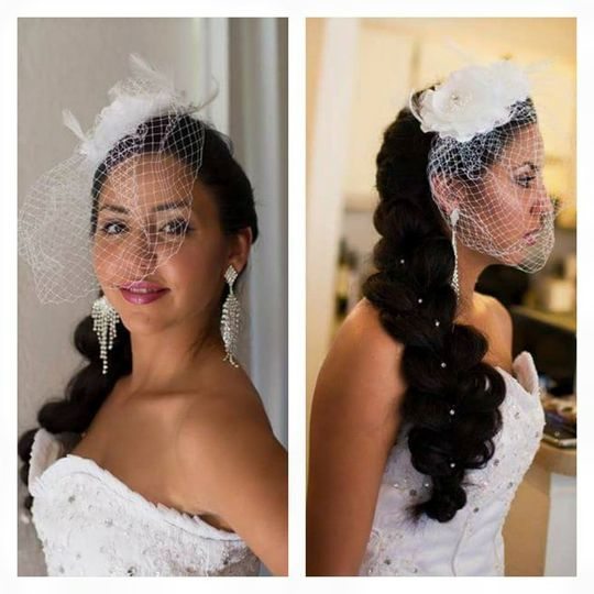 Customized hair styles to fit the dress and theme
