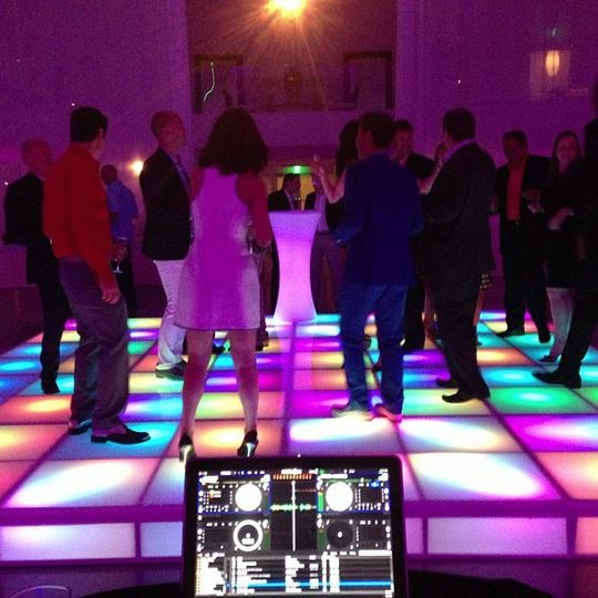 LED dance floor at Temple House in Miami Beach