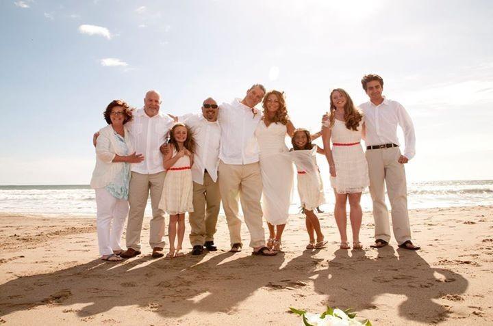 Family beach wedding