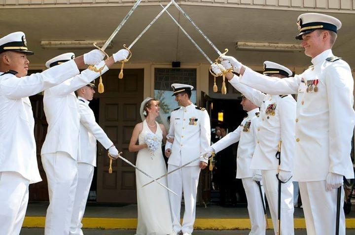 Military Wedding at a church