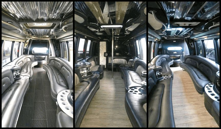 party bus with a bathroom on board