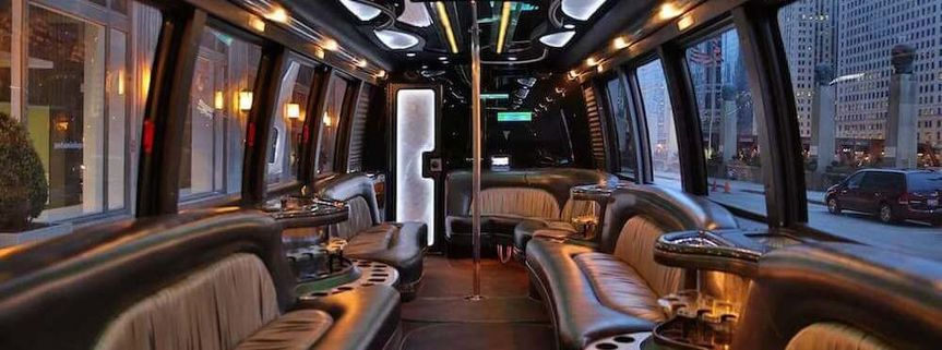 party bus with a restroom on board