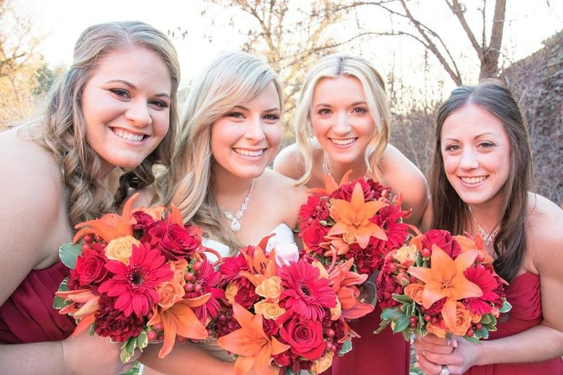 cassie and bridesmaids