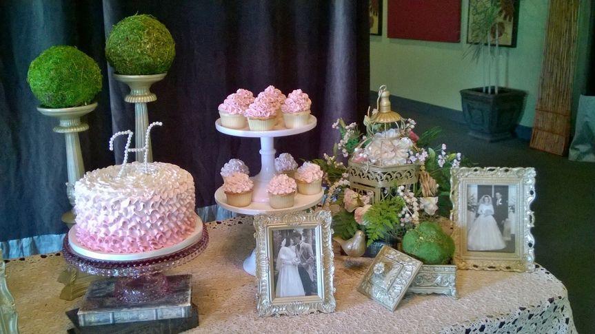 Cupcake and cake